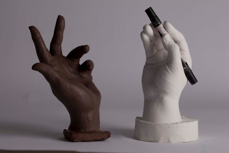 Hands  (Clay and Plaster)